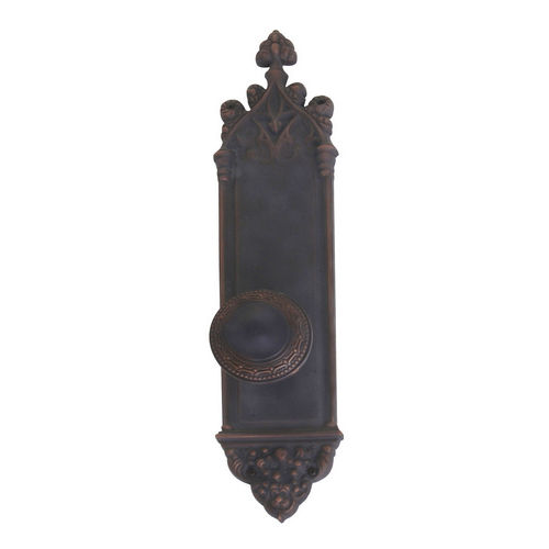 Brass Accents D04-K560A-LRL Renaissance Collection Door Plate Set, Venetian Bronze