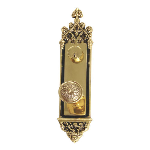 Brass Accents D04-K560J-HLS Renaissance Collection Door Plate Set, Highlighted Brass