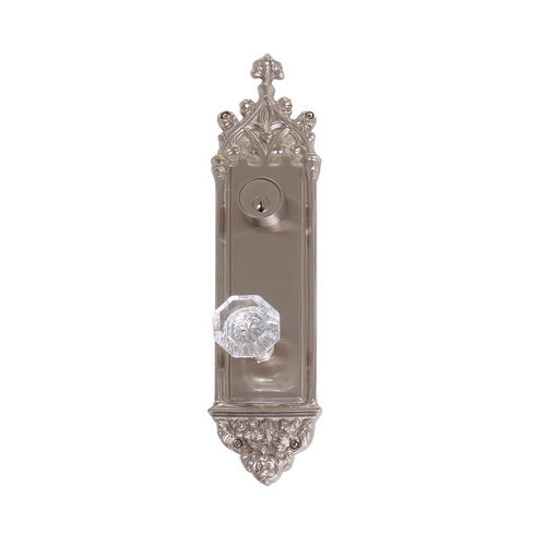 Brass Accents D04-K560J-HTF Renaissance Collection Door Plate Set, Satin Nickel