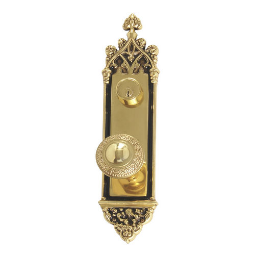 Brass Accents D04-K560J-LRL Renaissance Collection Door Plate Set, Highlighted Brass