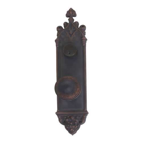 Brass Accents D04-K560J-LRL Renaissance Collection Door Plate Set, Venetian Bronze