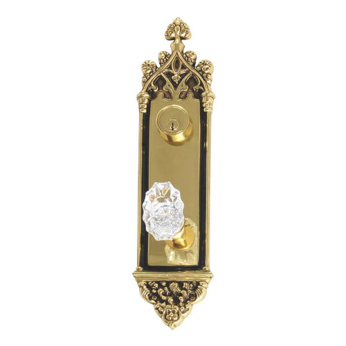 Brass Accents D04-K560J-SAV Renaissance Collection Door Plate Set, Highlighted Brass