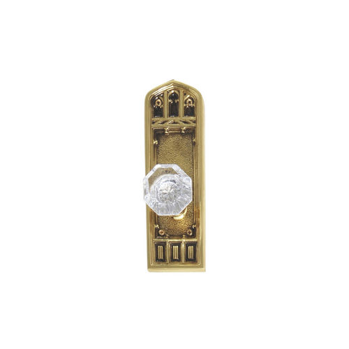 Brass Accents D04-K582A-HTF Renaissance Collection Door Plate Set, Highlighted Brass