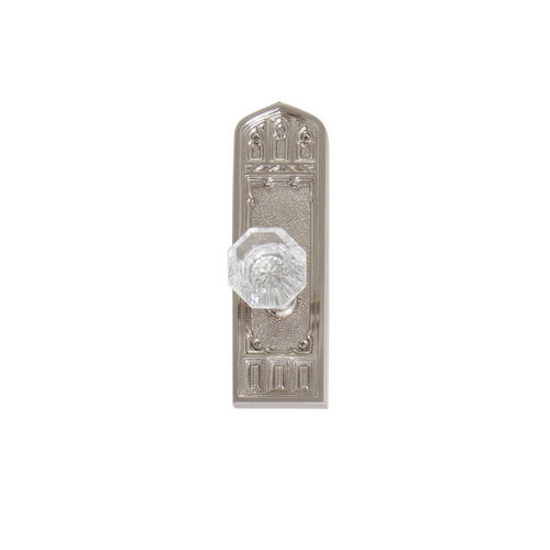 Brass Accents D04-K582A-HTF Renaissance Collection Door Plate Set, Satin Nickel