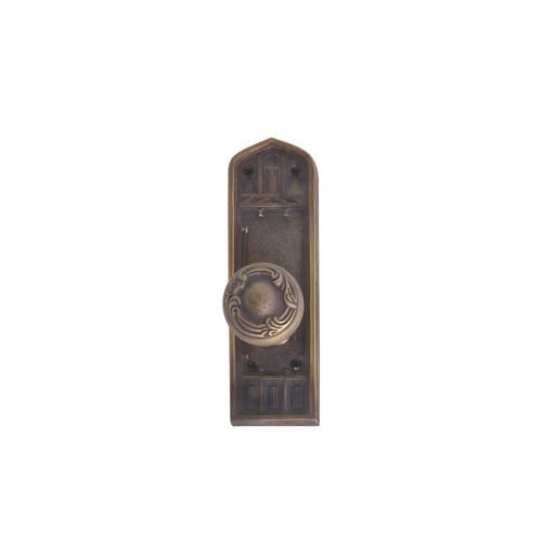 Brass Accents D04-K582A-LFT Renaissance Collection Door Plate Set, Aged Brass