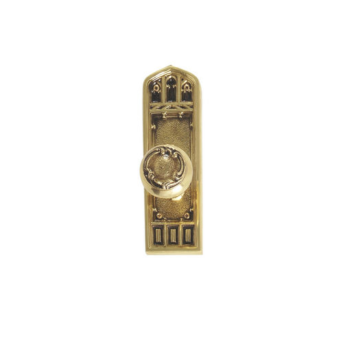 Brass Accents D04-K582A-LFT Renaissance Collection Door Plate Set, Highlighted Brass