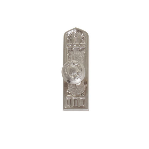 Brass Accents D04-K582A-LFT Renaissance Collection Door Plate Set, Satin Nickel