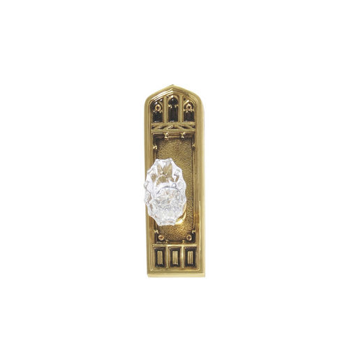 Brass Accents D04-K582A-SAV Renaissance Collection Door Plate Set, Highlighted Brass