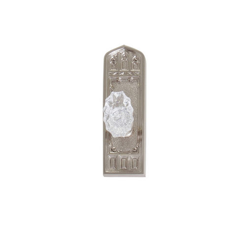 Brass Accents D04-K582A-SAV Renaissance Collection Door Plate Set, Satin Nickel