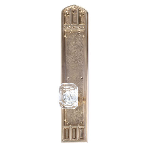 Brass Accents D04-K584A-MTL Renaissance Collection Door Plate Set, Highlighted Brass