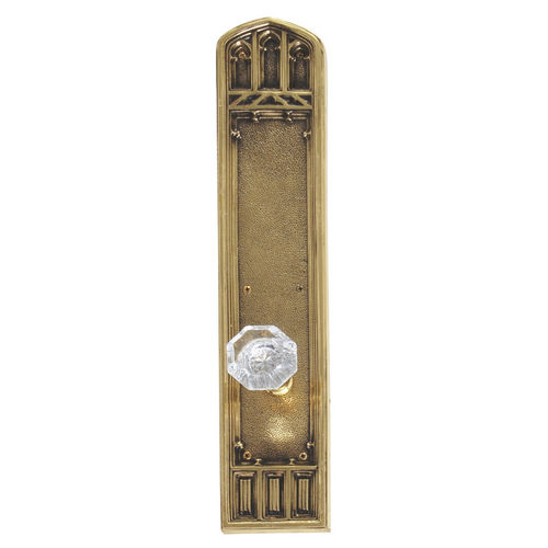 Brass Accents D04-K584A-HTF Renaissance Collection Door Plate Set, Highlighted Brass