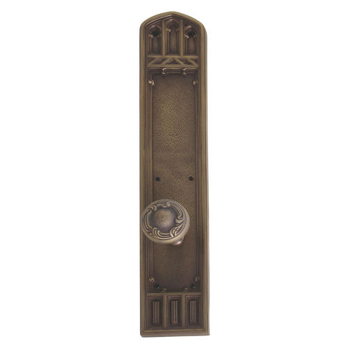 Brass Accents D04-K584A-LFT Renaissance Collection Door Plate Set, Aged Brass