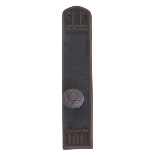 Brass Accents D04-K584A-LFT Renaissance Collection Door Plate Set, Venetian Bronze