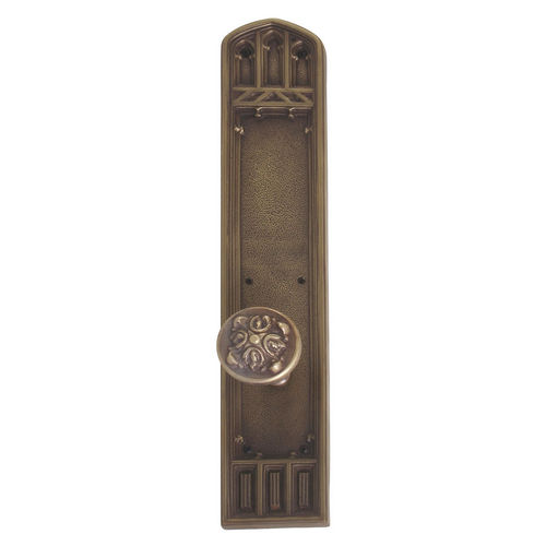 Brass Accents D04-K584A-MTL Renaissance Collection Door Plate Set, Aged Brass
