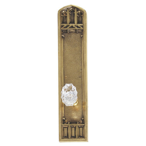 Brass Accents D04-K584A-SAV Renaissance Collection Door Plate Set, Highlighted Brass