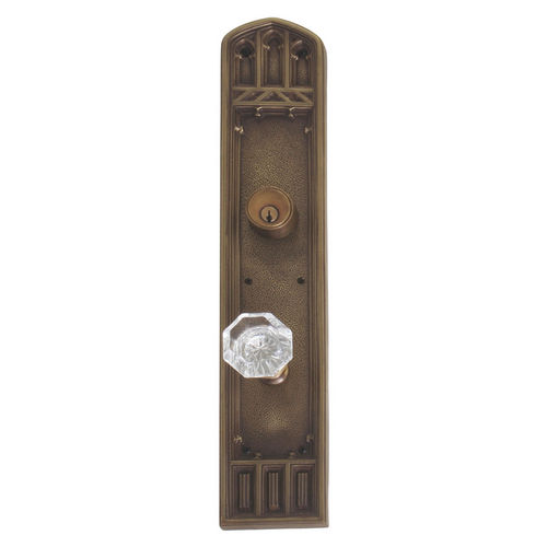 Brass Accents D04-K584J-HTF Renaissance Collection Door Plate Set, Aged Brass