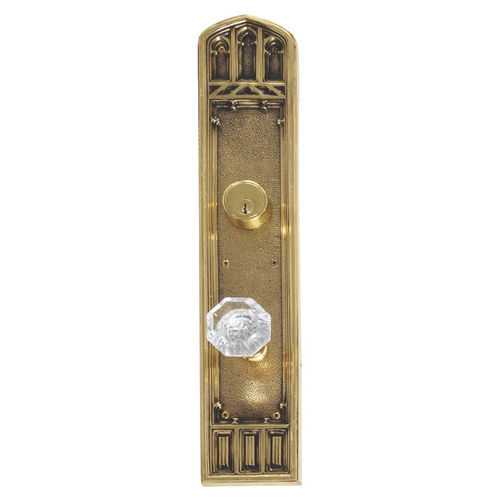 Brass Accents D04-K584J-HTF Renaissance Collection Door Plate Set, Highlighted Brass