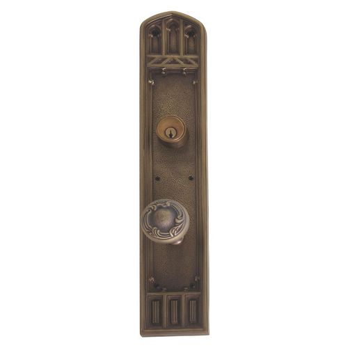 Brass Accents D04-K584J-LFT Renaissance Collection Door Plate Set, Aged Brass