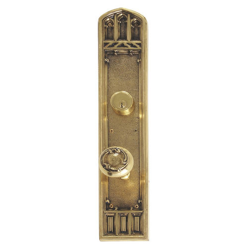 Brass Accents D04-K584J-LFT Renaissance Collection Door Plate Set, Highlighted Brass