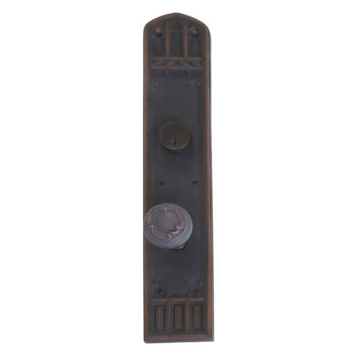 Brass Accents D04-K584J-LFT Renaissance Collection Door Plate Set, Venetian Bronze