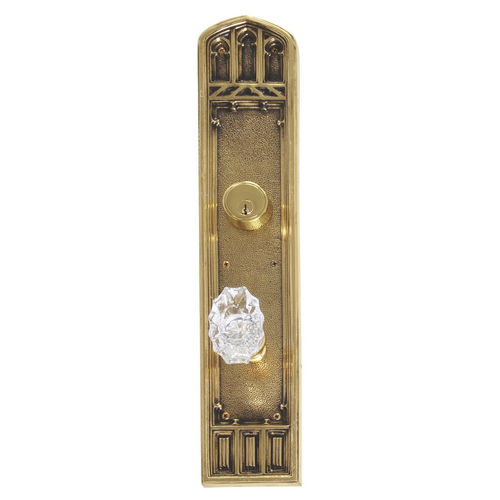 Brass Accents D04-K584J-SAV Renaissance Collection Door Plate Set, Highlighted Brass