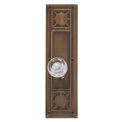 Brass Accents D04-K720A-EMP Renaissance Collection Door Plate Set, Aged Brass