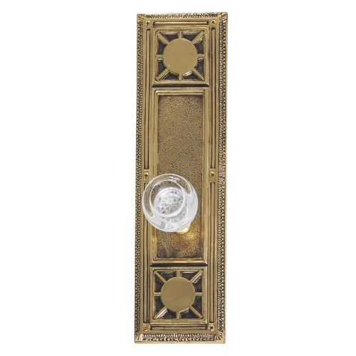 Brass Accents D04-K720A-EMP Renaissance Collection Door Plate Set, Highlighted Brass