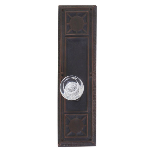 Brass Accents D04-K720A-EMP Renaissance Collection Door Plate Set, Venetian Bronze