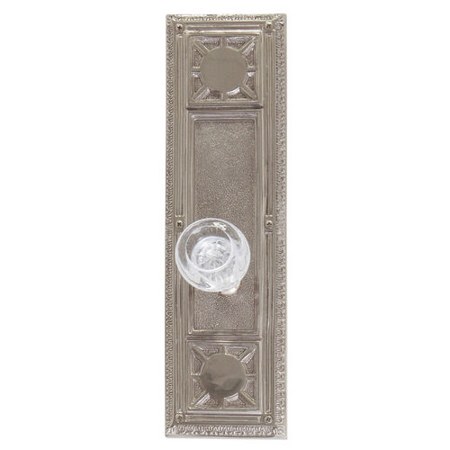 Brass Accents D04-K720A-EMP Renaissance Collection Door Plate Set, Satin Nickel