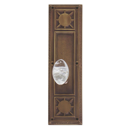 Brass Accents D04-K720A-GTN Renaissance Collection Door Plate Set, Aged Brass