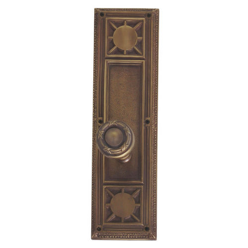 Brass Accents D04-K720A-RBN Renaissance Collection Door Plate Set, Aged Brass