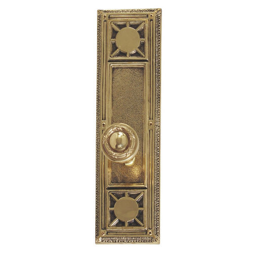 Brass Accents D04-K720A-RBN Renaissance Collection Door Plate Set, Highlighted Brass