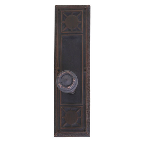 Brass Accents D04-K720A-RBN Renaissance Collection Door Plate Set, Venetian Bronze
