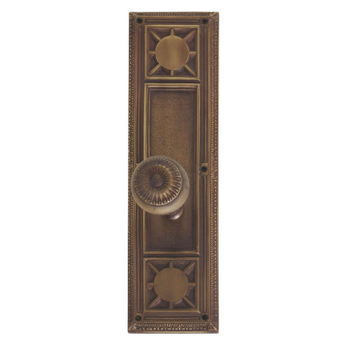 Brass Accents D04-K720A-SUN Renaissance Collection Door Plate Set, Aged Brass