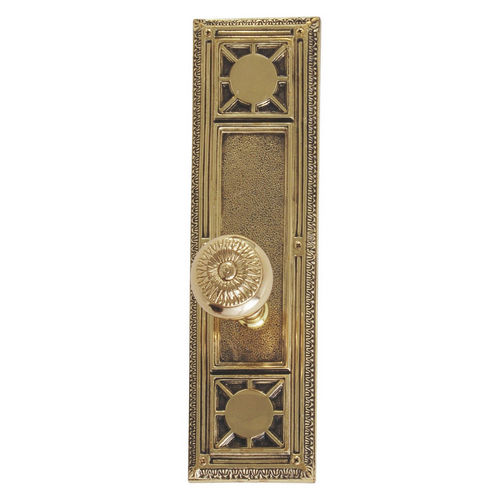 Brass Accents D04-K720A-SUN Renaissance Collection Door Plate Set, Highlighted Brass