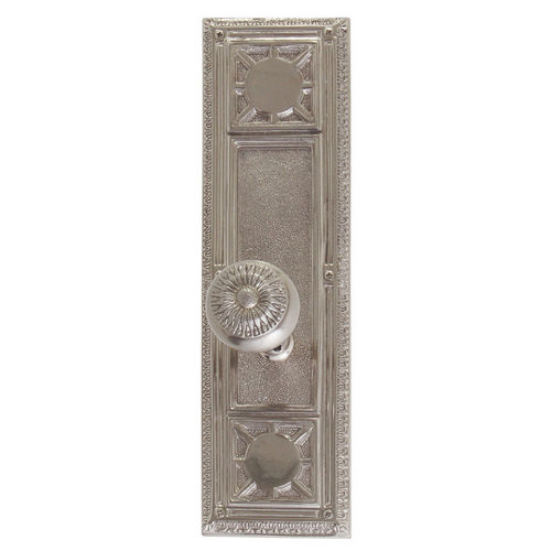 Brass Accents D04-K720A-SUN Renaissance Collection Door Plate Set, Satin Nickel