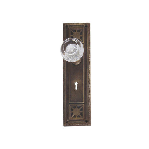 Brass Accents D04-K724A-EMP Renaissance Collection Door Plate Set, Aged Brass