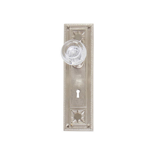 Brass Accents D04-K724A-EMP Renaissance Collection Door Plate Set, Satin Nickel