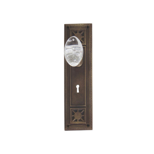 Brass Accents D04-K724A-GTN Renaissance Collection Door Plate Set, Aged Brass