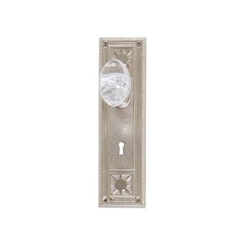 Brass Accents D04-K724A-GTN Renaissance Collection Door Plate Set, Satin Nickel