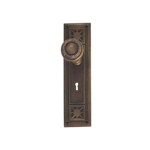 Brass Accents D04-K724A-RBN Renaissance Collection Door Plate Set, Aged Brass