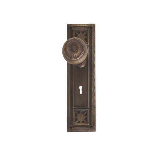 Brass Accents D04-K724A-SUN Renaissance Collection Door Plate Set, Aged Brass