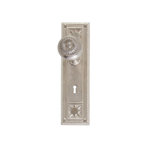 Brass Accents D04-K724A-SUN Renaissance Collection Door Plate Set, Satin Nickel