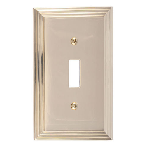 Brass Accents M02-S2500 Classic Steps Single Switch, Polished Brass