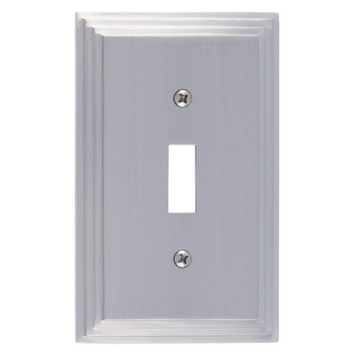 Brass Accents M02-S2500 Classic Steps Single Switch, Satin Nickel