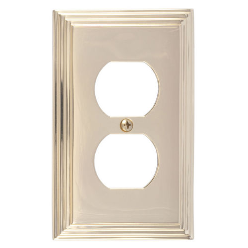 Brass Accents M02-S2510 Classic Steps Single Outlet, Polished Brass