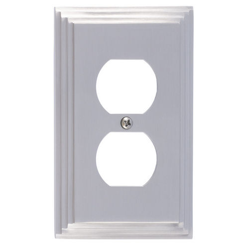 Brass Accents M02-S2510 Classic Steps Single Outlet, Satin Nickel