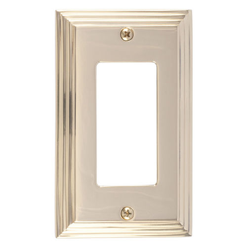 Brass Accents M02-S2520 Classic Steps Single GFCI, Polished Brass