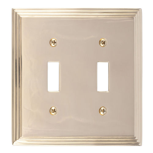 Brass Accents M02-S2530 Classic Steps Double Switch, Polished Brass