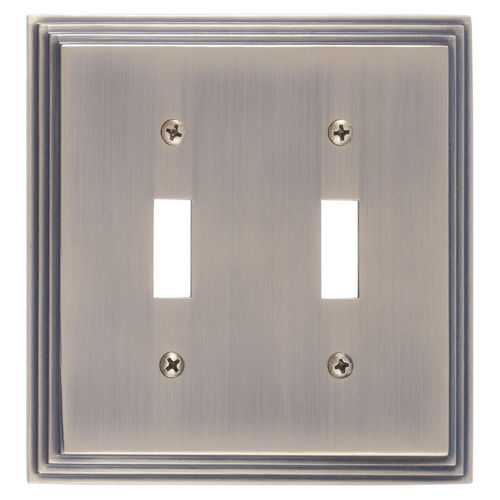 Brass Accents M02-S2530 Classic Steps Double Switch, Antique Brass